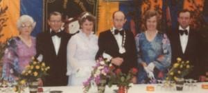 Von links: Nebenkönigspaar Agnes und Erhard Heller, Königspaar Hanna und Alwin Wegmann, Nebenkönigspaar Maria und Richard Schumacher